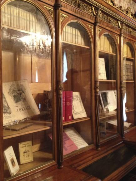 Detalhes da estante de livros