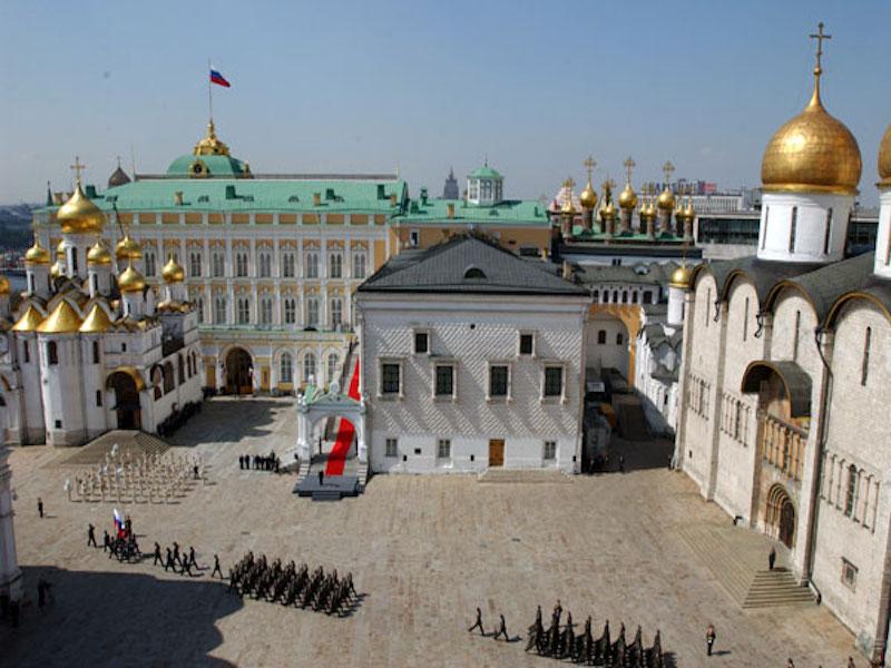 Praça das catedrais- igrejas de Moscou