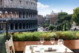 Aroma- restaurantes com vista em Roma