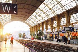 Gare de Nice- trem na Europa
