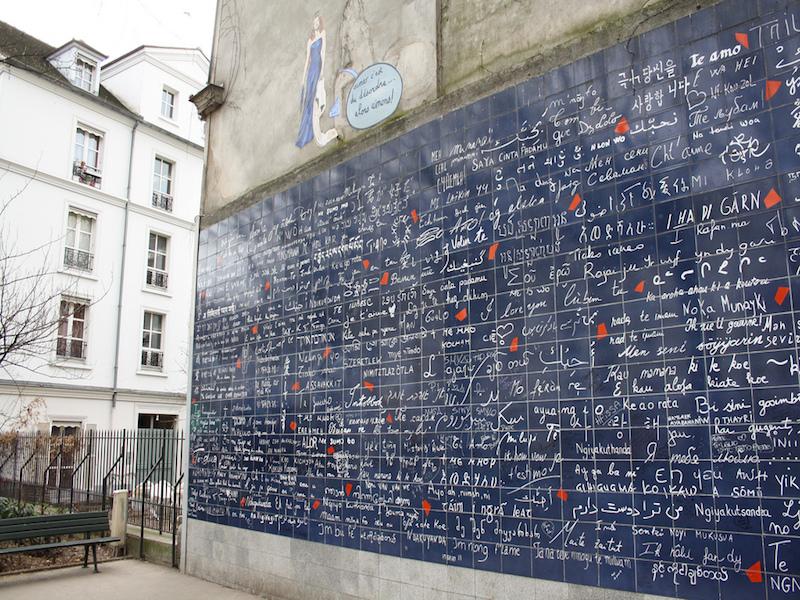 wall of love- atrações de montmartre