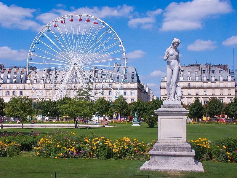 Tuileries- jardins da França