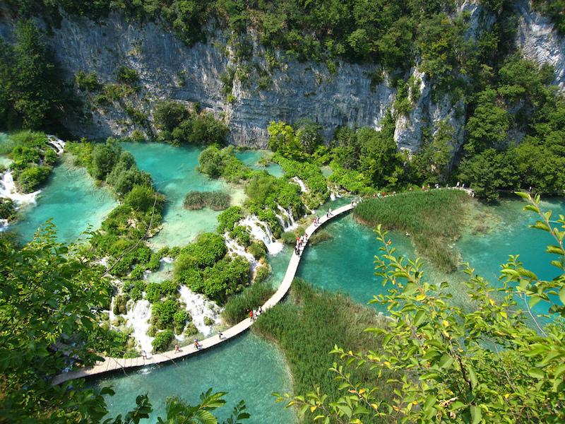 Lagos de Plitvice- lagos na Europa